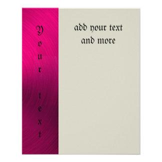 "Hot pink,metallic,trendy,girly,fun,happy,modern, 4.5"" x 5.6"" flyer"