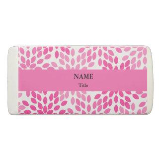 Hot Pink Modern Floral Pattern Eraser