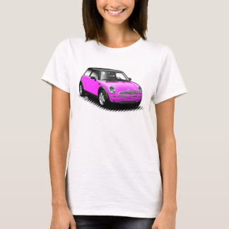 Hot Pink Modern Mini Car Ladies Top