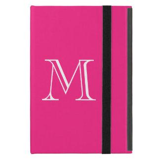 Hot Pink Monogram iPad Case