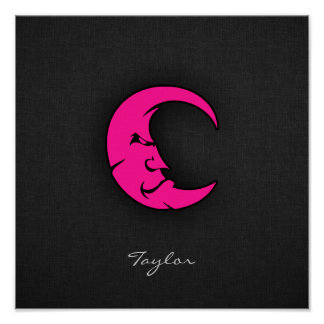 Hot Pink Moon Poster