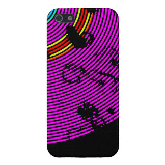 Hot Pink Multicolor Vinyl Disc Texture Pattern iPhone 5/5S Cover