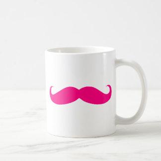 Hot Pink Mustache Templates Basic White Mug