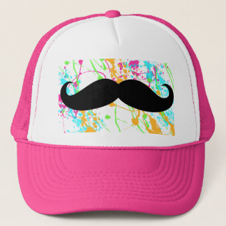 Hot Pink Mustache Trucker Hat