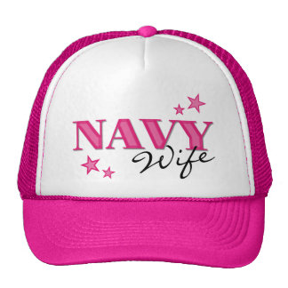 Hot Pink Navy Wife w/Stars Hat