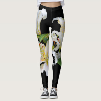 Hot Pink Olympic Torch Lilies Leggings