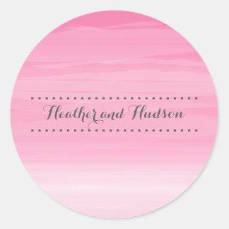Hot Pink Ombré Wedding Sticker