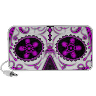 Hot Pink on Pink - Day of the Dead Sugar Skull Mini Speakers
