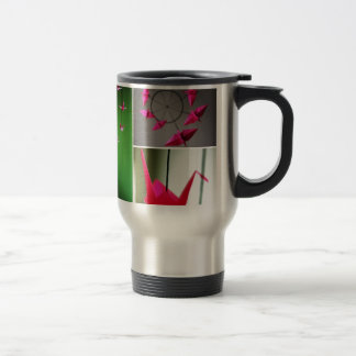 Hot Pink Origami Crane Mobile Coffee Mug