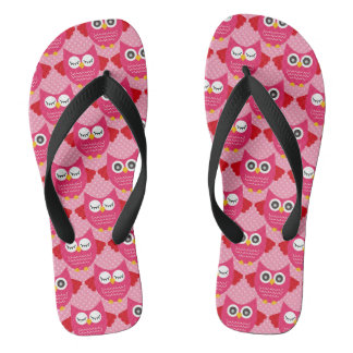 Hot Pink Owls Thongs