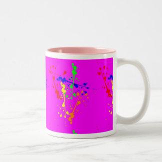 Hot Pink Paint Splatter Mug