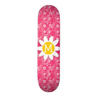 Hot Pink Paisley; Daisy Custom Skate Board