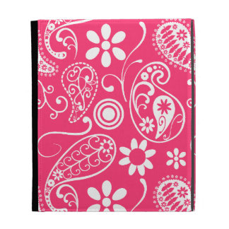 Hot Pink Paisley; Floral iPad Folio Covers
