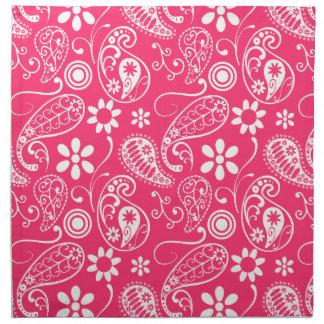 Hot Pink Paisley; Floral Napkin