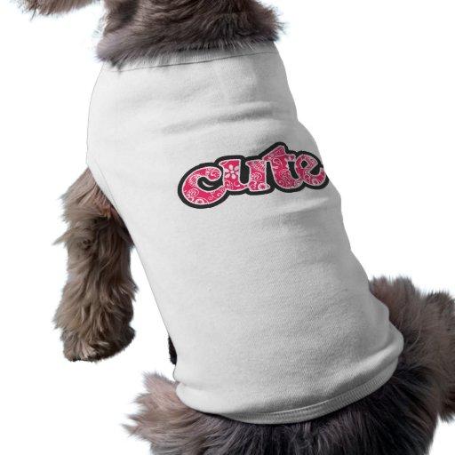 Hot Pink Paisley; Floral Dog Tee Shirt