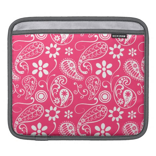 Hot Pink Paisley; Floral Sleeves For iPads