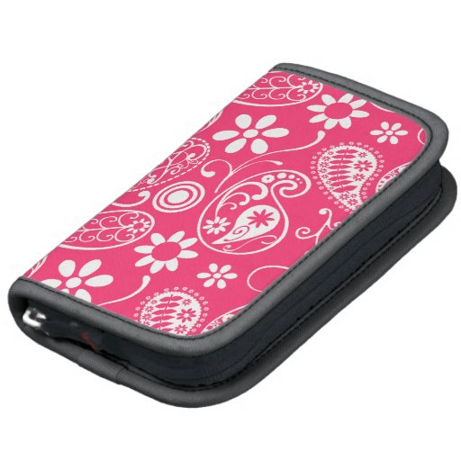 Hot Pink Paisley; Floral Folio Planner
