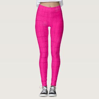 Hot Pink Pattern Yoga Fitness Leggings