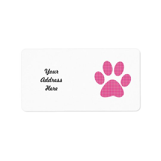 Hot pink Paw.png Label