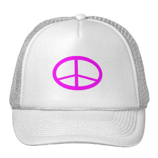 Hot Pink Peace Sign Hat