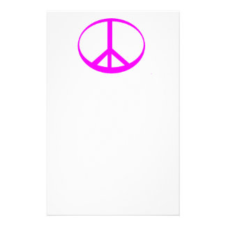 Hot Pink Peace Stationery