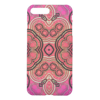 Hot Pink Peach Abstract Pattern iPhone 7 Plus Case