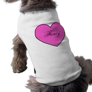 Hot Pink Personalized Heart Pet Apparel Sleeveless Dog Shirt