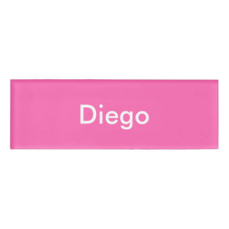 Hot Pink Personalized Template Name Tag