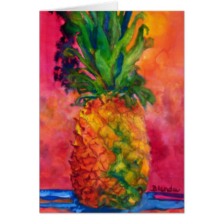 Hot Pink Pineapple Card
