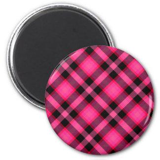 Hot Pink Plaid, Punk, Emo, or Preppy Magnet