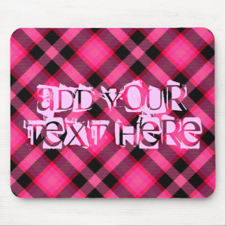 Hot Pink Plaid, Punk, Emo, or Preppy Mouse Pad