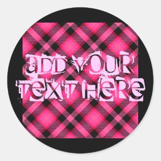 Hot Pink Plaid, Punk, Emo, or Preppy Sticker