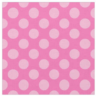 Hot Pink Polka Dots Fabric