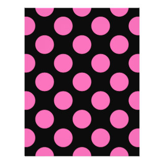 Hot Pink Polka Dots Personalized Flyer