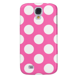 Hot Pink Polka Dots Galaxy S4 Covers
