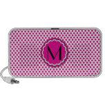 Hot Pink Polka Dots Monogram iPhone Speaker