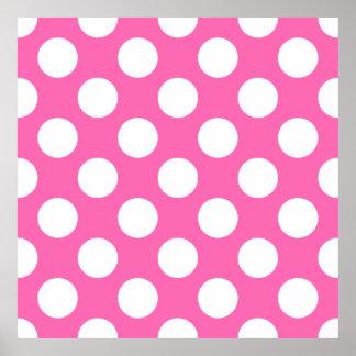 Hot Pink Polka Dots Print