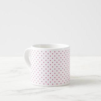 Hot Pink Polka Dots Espresso Mugs