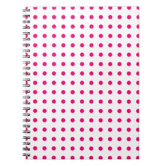 Hot Pink Polka Dots Spiral Notebook