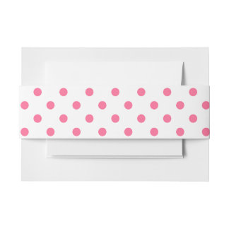 Hot Pink Polkadots - Invitation Belly Band