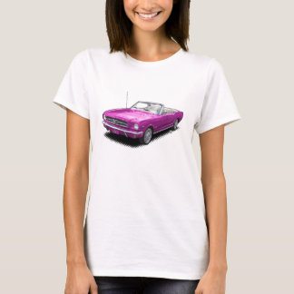 Hot Pink Pony Car Convertible T-Shirt