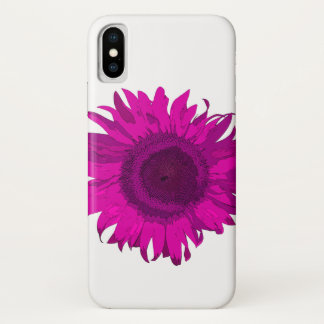 Hot Pink Pop Art Sunflower iPhone X Case
