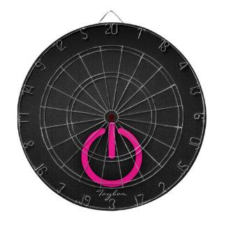 Hot Pink Power Button Dart Board
