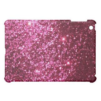 Hot pink princess girly glitter sparkle iPad case