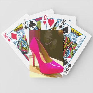 Hot Pink Pump Poker Deck