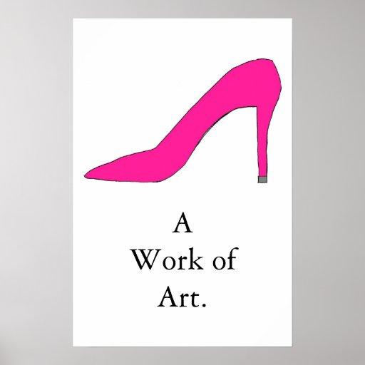 Hot Pink Pump Poster