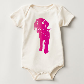 Hot Pink Puppy! Baby Bodysuit
