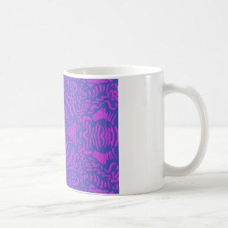Hot pink & purple coffee mug