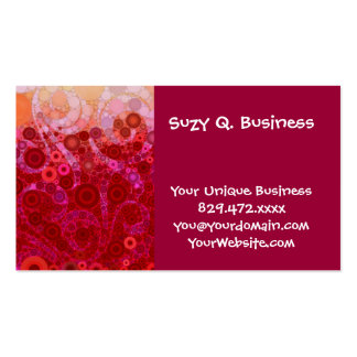 Hot Pink Purple Concentric Circles Mosaic Swirls Business Card Templates