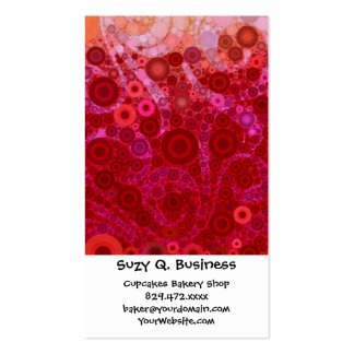 Hot Pink Purple Concentric Circles Mosaic Swirls Business Cards